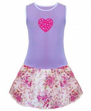 Сиреневый сарафан для девочки Цвет: бл.розовый