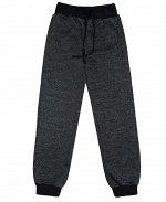 Серые брюки для мальчика Цвет: чёрный меланж