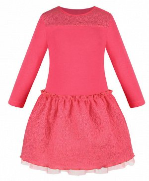 Коралловое платье для девочки Цвет: коралловый