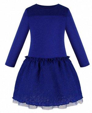 Синее платье для девочки Цвет: синий