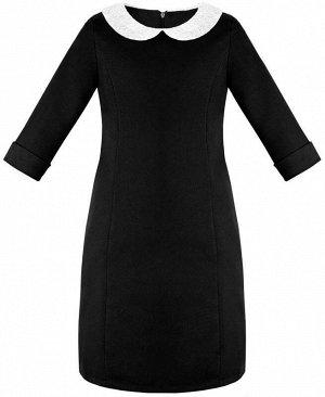 Школьное черное платье для девочки Цвет: черный
