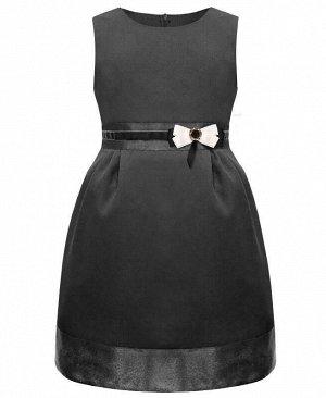 Серый школьный сарафан для девочки Цвет: серый