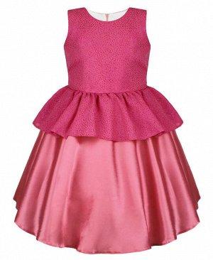Коралловое нарядное платье для девочки Цвет: коралловый
