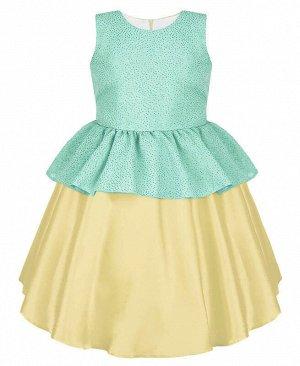 Нарядное платье для девочки цвета шампань Цвет: шампань