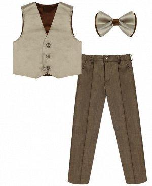 Комплект-тройка для мальчика коричневого цвета Цвет: коричневый