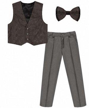 Комплект-тройка для мальчика серого цвета Цвет: серый