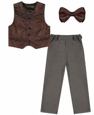 Серый комплект-тройка для мальчика Цвет: серый