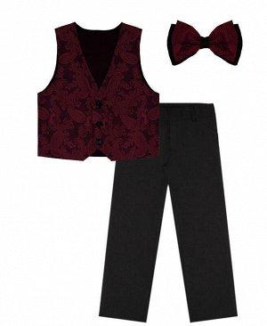 Костюм нарядный для мальчика Цвет: Чёрн+т.бордо