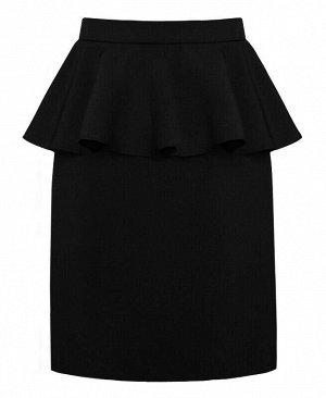 Школьная черная юбка для девочки Цвет: черный