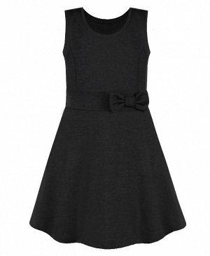 Серый школьный сарафан для девочек Цвет: серый