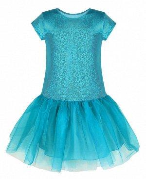 Нарядное бирюзовое платье для девочки Цвет: бирюзовый
