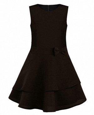 Школьный сарафан с бантом для девочки,коричневый Цвет: коричневый