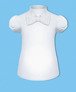 Удобная водолазка (блузка) с коротким рукавом для девочки Цвет: белый