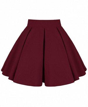 Бордовая юбка для девочки Цвет: Бордовый