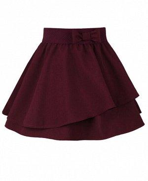 Школьная бордовая юбка для девочки Цвет: бордовый