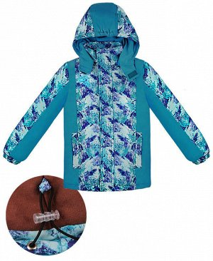 Зимняя куртка для мальчика Цвет: бирюзовый