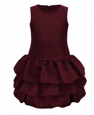 Школьный бордовый сарафан для девочки Цвет: Бордовый