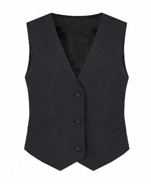 Серый жилет с подкладом для девочки Цвет: серый