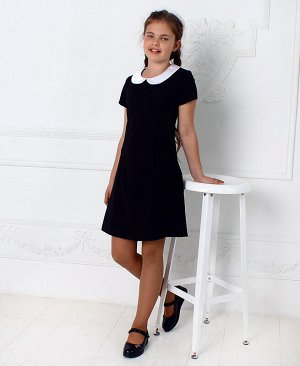 Чёрное школьное платье для девочки Цвет: черный