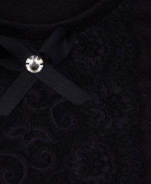 Школьный чёрный жилет для девочки Цвет: черный