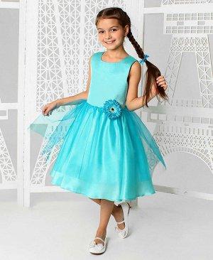 Нарядное бирюзое платье для девочки Цвет: светло-бирюзовый
