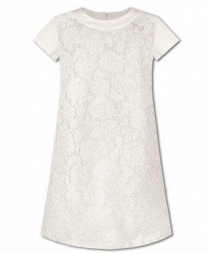 Нарядное молочное платье для девочки Цвет: молочный