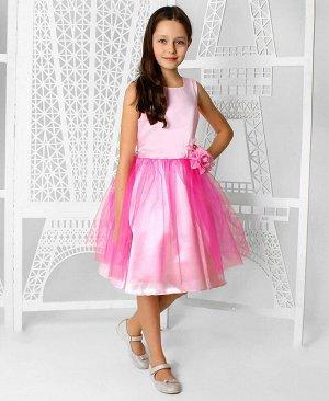 Розовое нарядное платье для девочки Цвет: светло-розовый