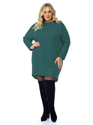 Платье - туника, джерси меланж зеленый