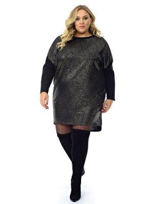 Платье - туника, ангора черная