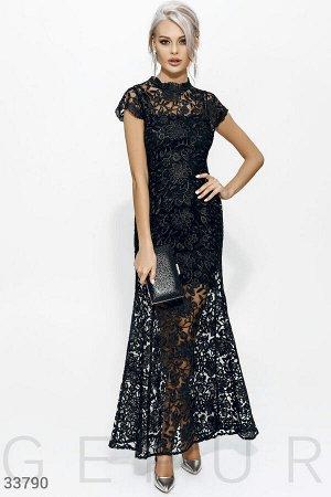Шикарное вечернее платье-годе