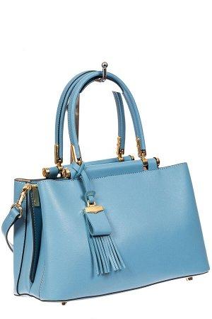 Кожаная женская сумка тоут, цвет сероголубой. Новая!