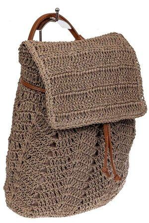 Сумка-рюкзак плетеная из джута, цвет крафт