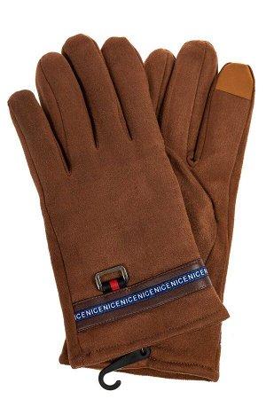 Утепленные перчатки мужские из велюра, цвет рыжий
