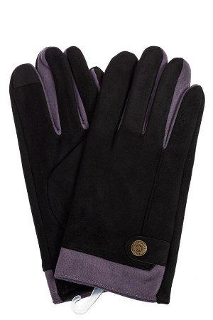 Перчатки мужские из велюра, цвет черный