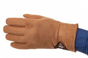 Недорогие теплые перчатки мужские, цвет рыжий