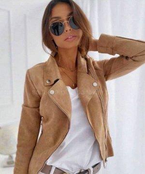 Куртка-косуха эко- замша бордовая