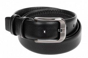 Кожаный ремень мужской, от 115 до 140 см, черного цвета
