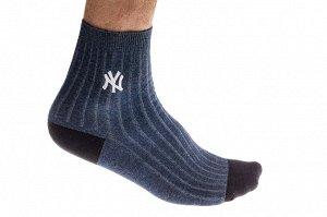 Спортивные носки мужские, размер 25-28, голубые
