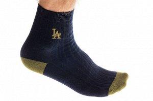 Носки мужские хлопковые с вышивкой, размер 25-28, цвет тёмно-синий