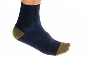 Носки мужские хлопок, размер 25-28, цвет синий и хаки
