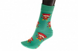 Цветные носки мультгероя, основной цвет зеленый