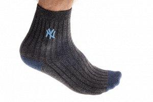 Спортивные носки мужские, размер 25-28, темно-серые