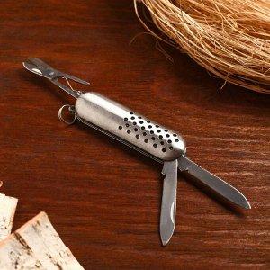 Нож складной 3в1, рукоять металлик