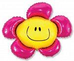 """902548 Шар-фигура/ мини фольга, """"Цветочек розовый"""" (FM), 34 см х 38 см"""