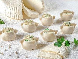Дамплинги с адыгейским сыром, моцареллой и картофелем (15 шт)