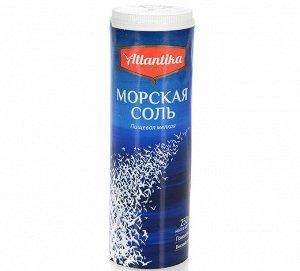 Соль морская пищевая Атлантика, солонка 250 гр.