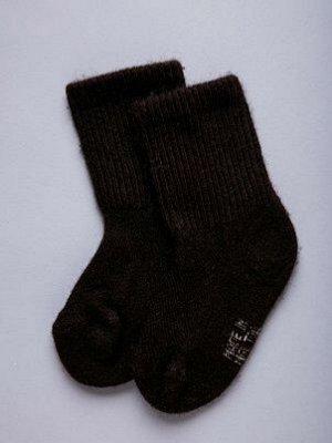 Носки детские из шерсти Як,  цвет:  шоколадный