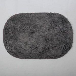 Коврик овальный «Пушистик», 40х60 см