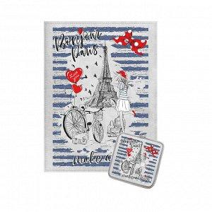 """Комплект кухонный """"Бонжур Париж"""" полотенце 45х60см, прихватка 18х18см НК-71"""
