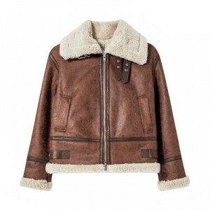 Утепленая куртка их эко. кожи и меха